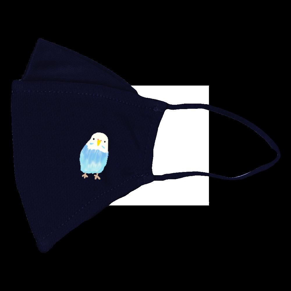 トリ(blue) ぴったりフィットマスク(接触冷感)
