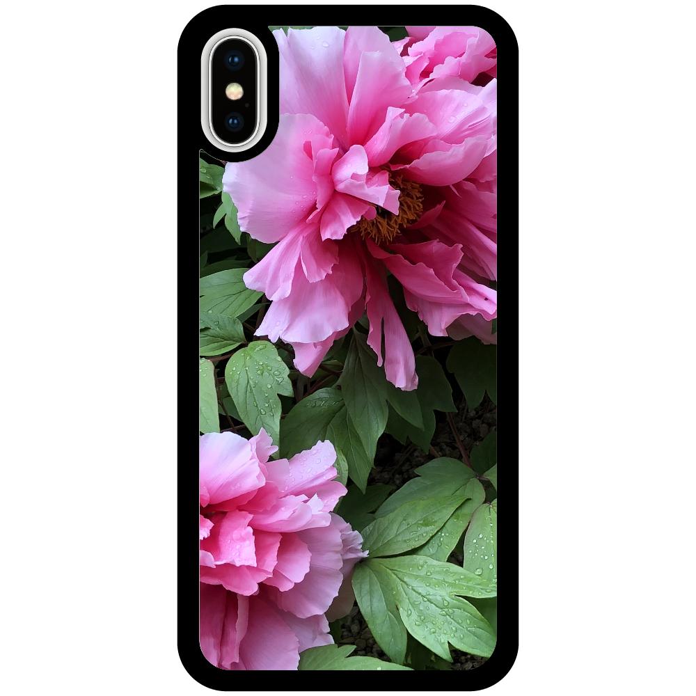 花と。葉と。 iPhoneX/Xsミラーパネルケース