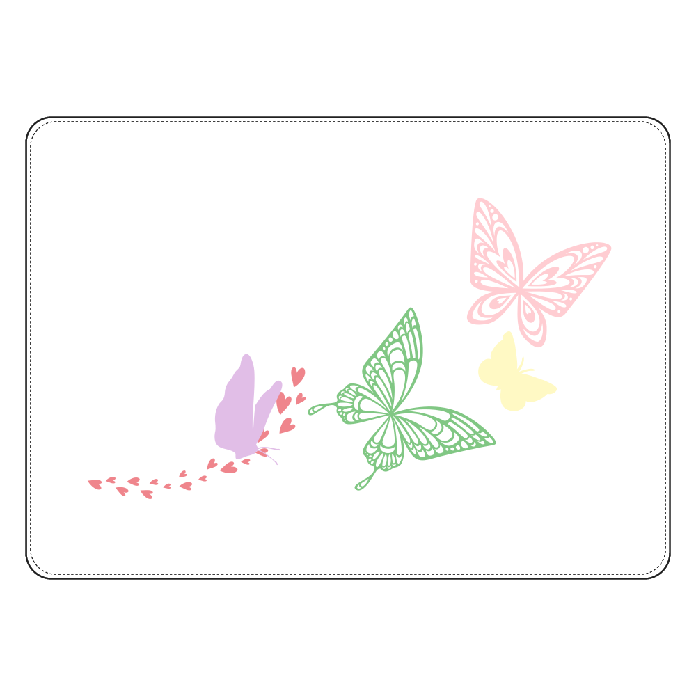 Butterfly タブレットケース汎用Mサイズ