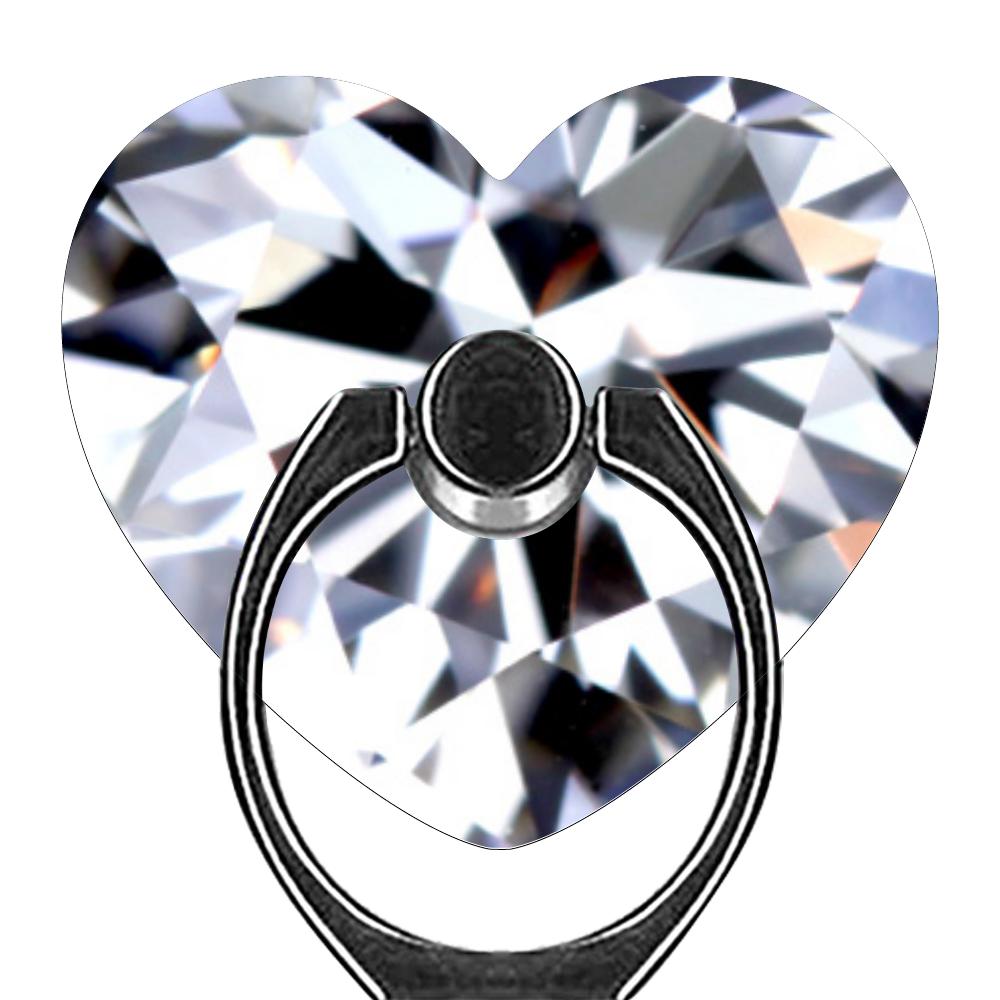 Diamond スマホリング(ハート型)