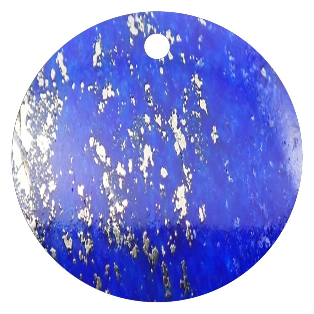 Lapis Lazuli レザーキーホルダー(丸型)