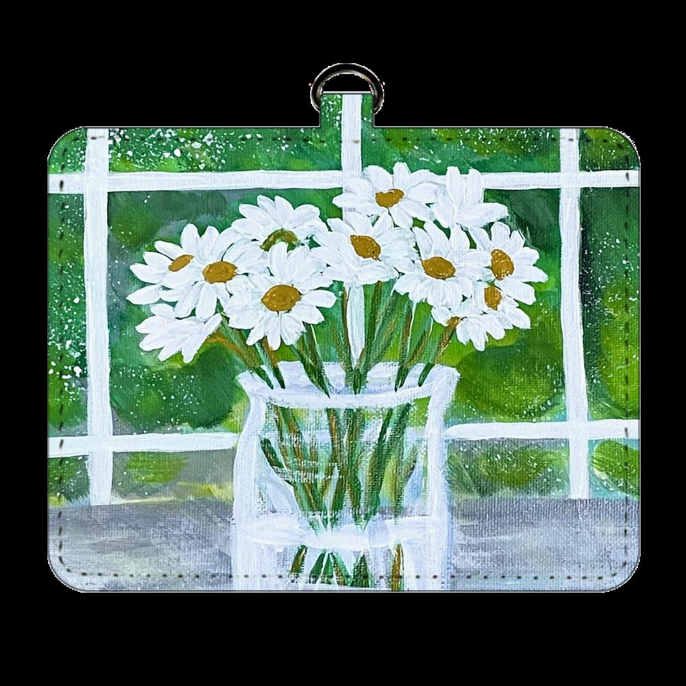 花瓶の花 パスケース