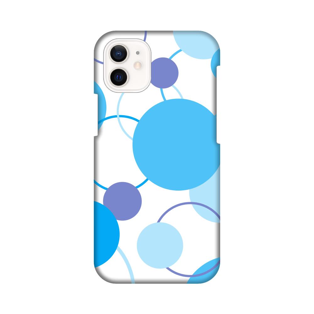 シンプル携帯ケース青 iPhone12 mini
