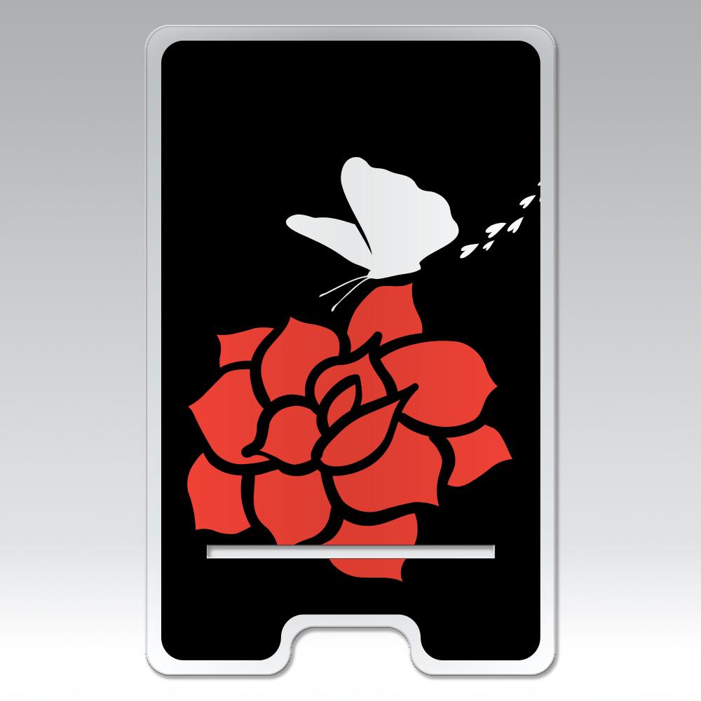 rose アクリル スマホスタンド