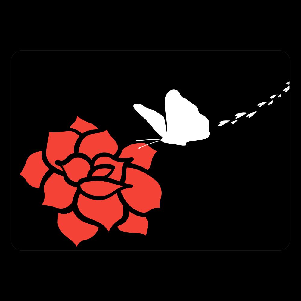 rose タブレットケース汎用Mサイズ