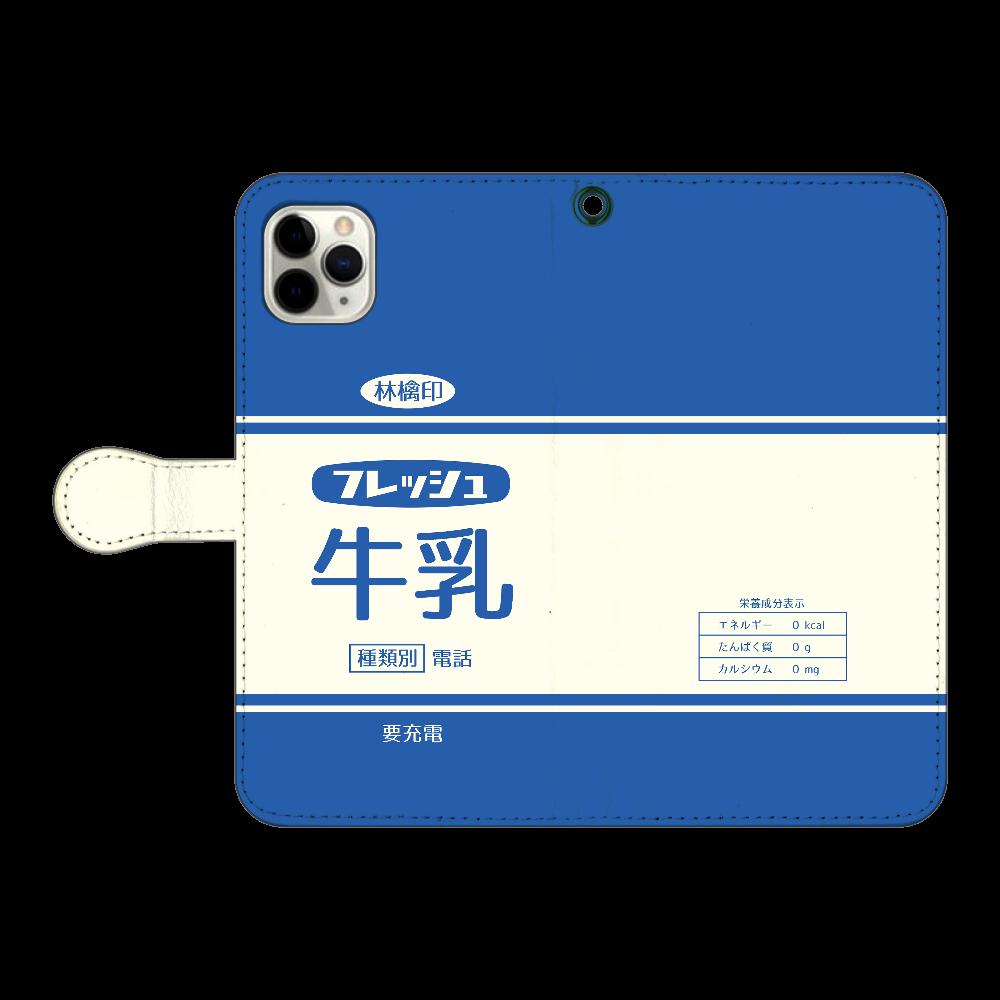 レトロなフレッシュ牛乳 iPhone11 Pro MAX 手帳型スマホケース