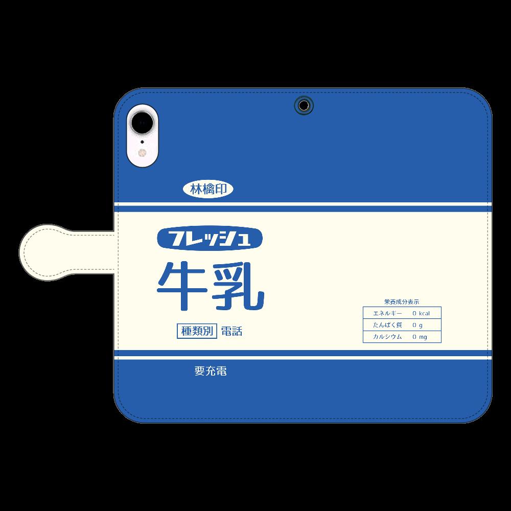 レトロなフレッシュ牛乳 iPhone XR 手帳型スマホケース