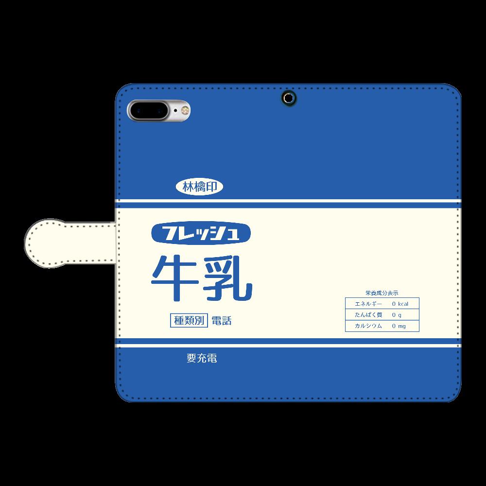 レトロなフレッシュ牛乳 iPhone7plus 手帳型スマホケース