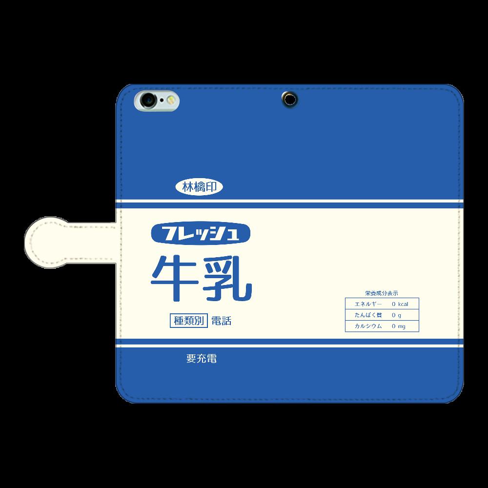 レトロなフレッシュ牛乳 iPhone6Plus/6sPlus 手帳型スマホケース