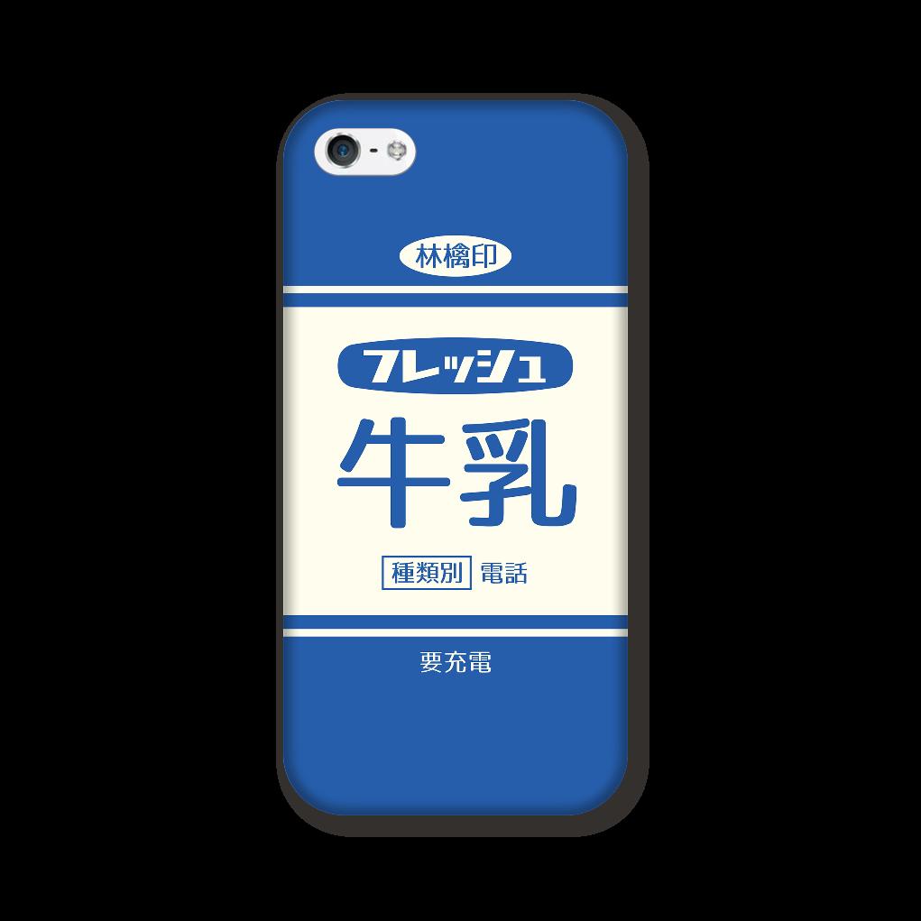 レトロなフレッシュ牛乳 iPhone5/5s/SE