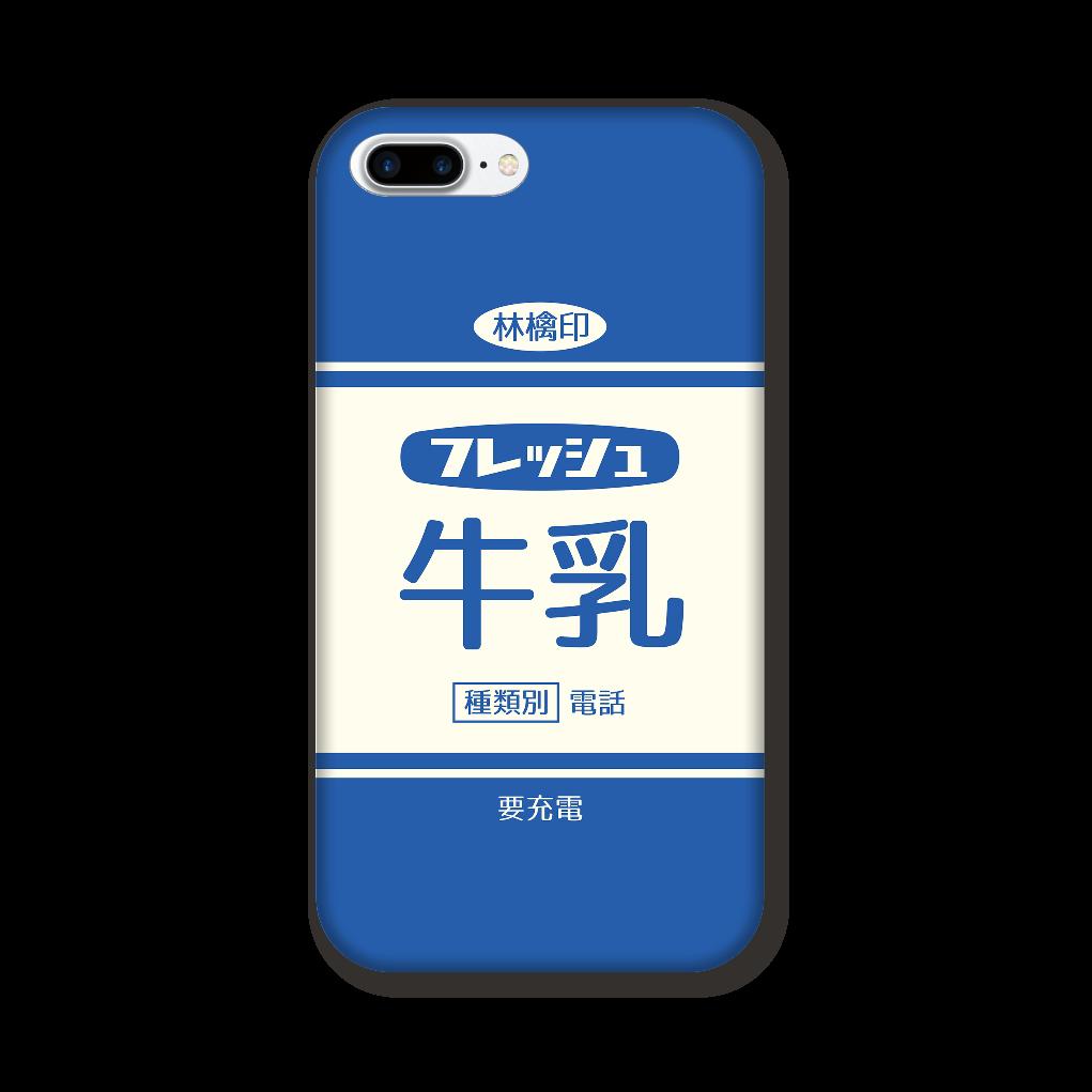 レトロなフレッシュ牛乳 iPhone8Plus