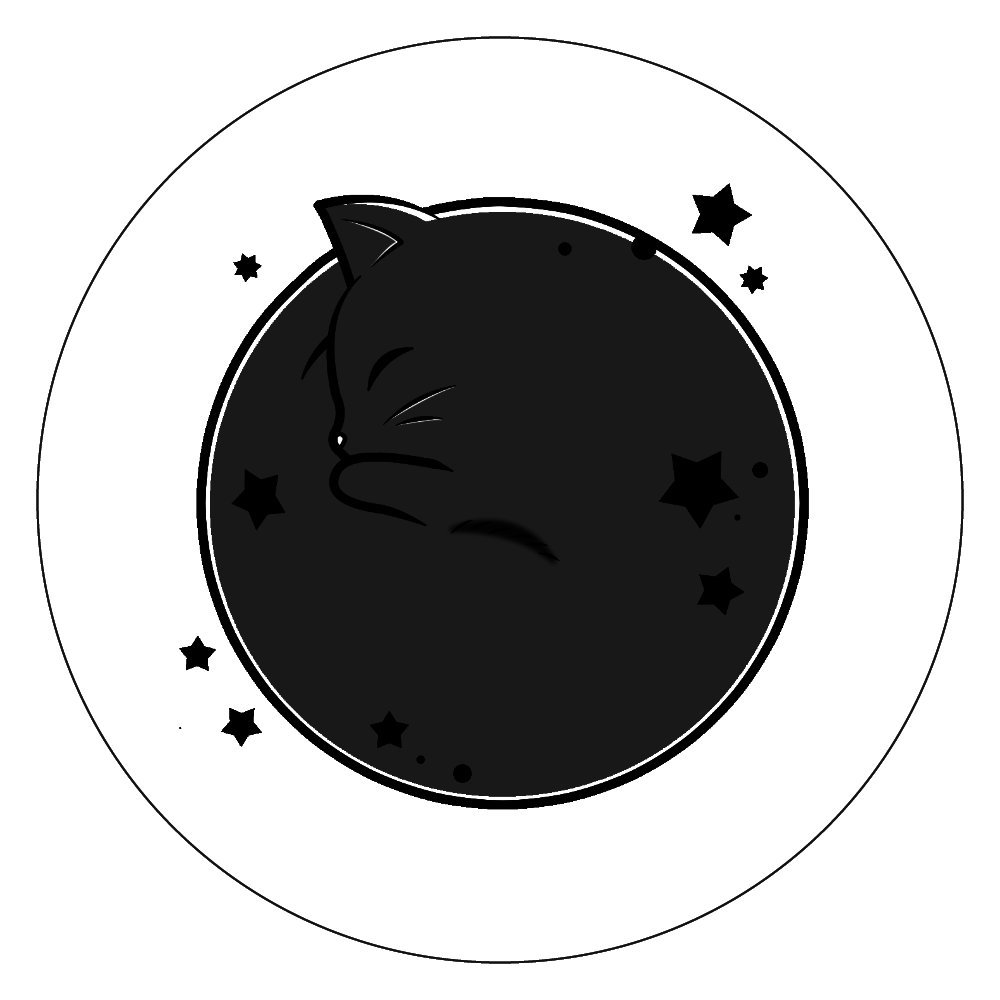 アンモナ(ニャ)イト・黒 白雲石コースター 丸 白雲石コースター 丸