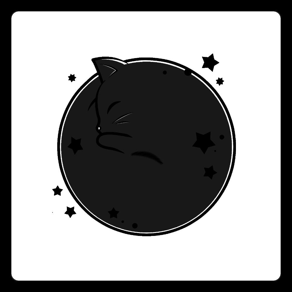 アンモナ(ニャ)イト・黒 白雲石コースター 四角 白雲石コースター 四角