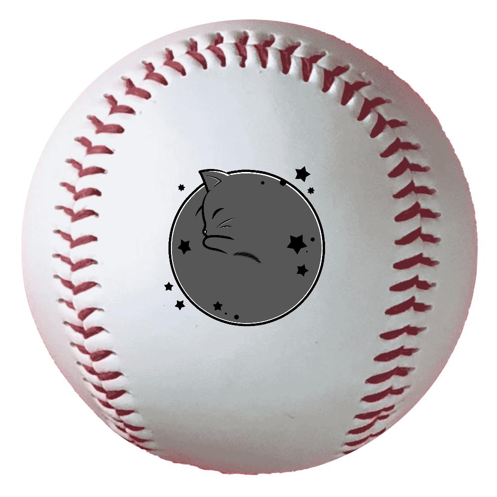 アンモナ(ニャ)イト・黒 野球ボール(硬式) 野球ボール(硬式)