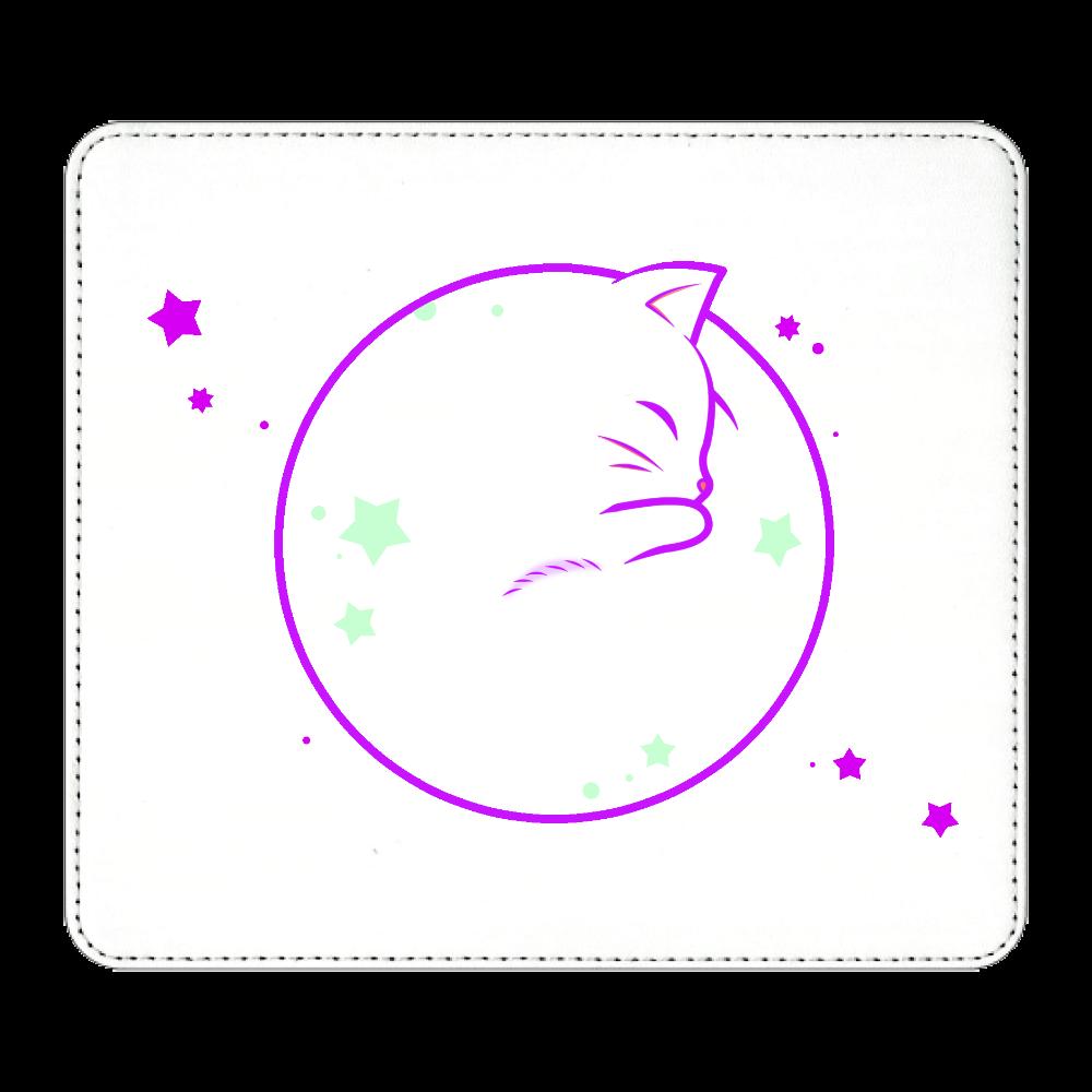 アンモナ(ニャ)イト・白 マウスパッド マウスパッド