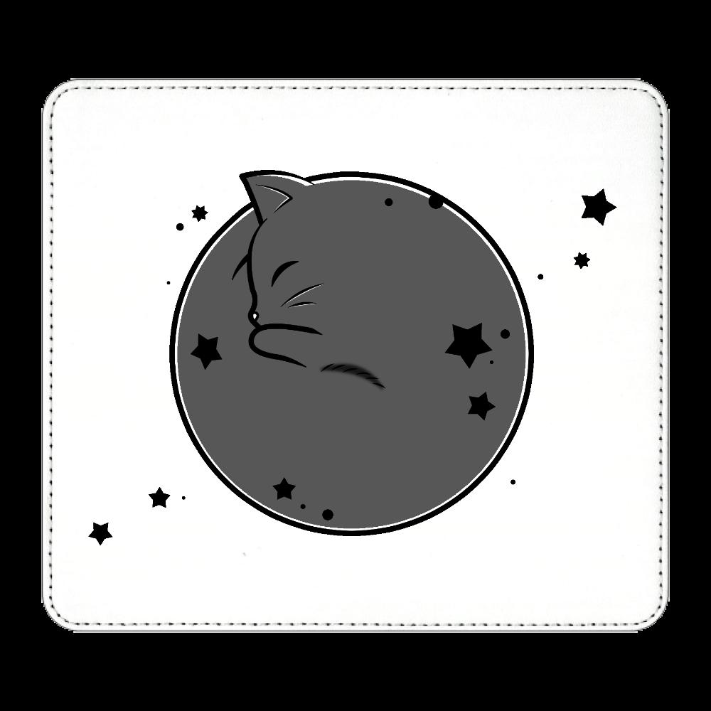 アンモナ(ニャ)イト・黒 マウスパッド マウスパッド