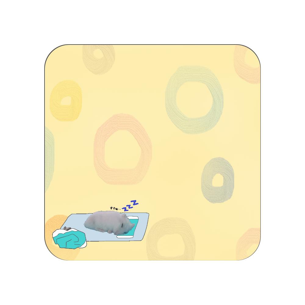 おやすみハムちゃん 全面プリントハンカチタオル