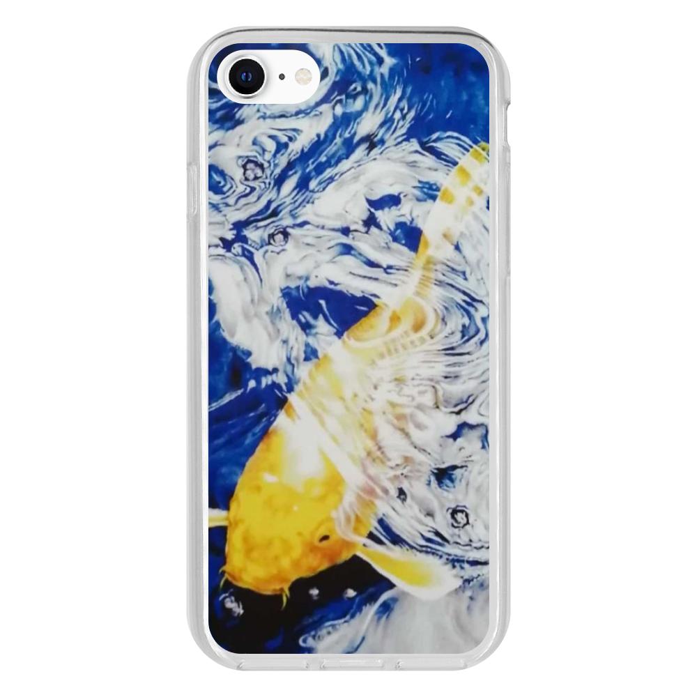黄金の鯉 iPhone SE2 抗菌ソフトケース