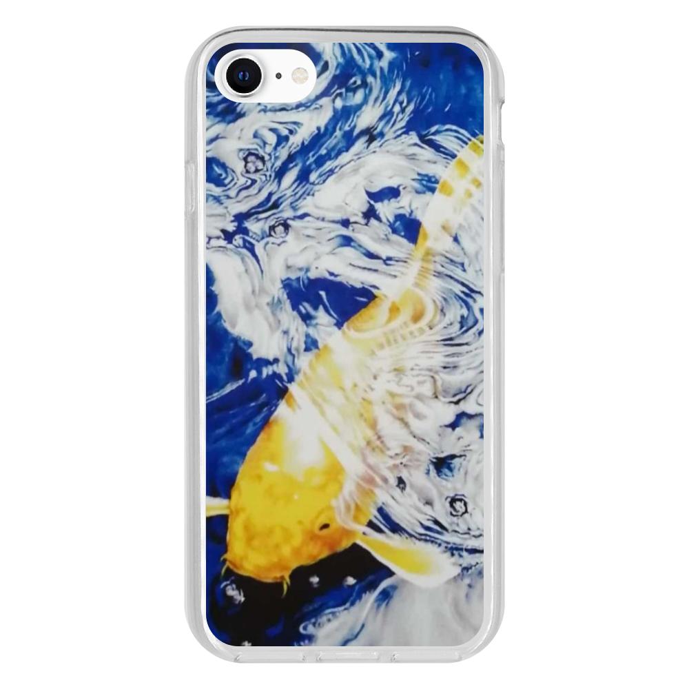 黄金の鯉 iPhone 8 抗菌ソフトケース