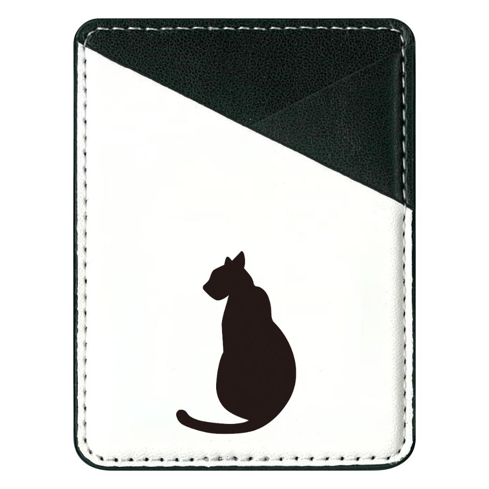 影猫 貼り付けパスケース(スマホ用)
