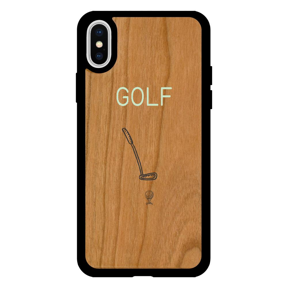 GOLF  iPhoneX/XS ウッドケース