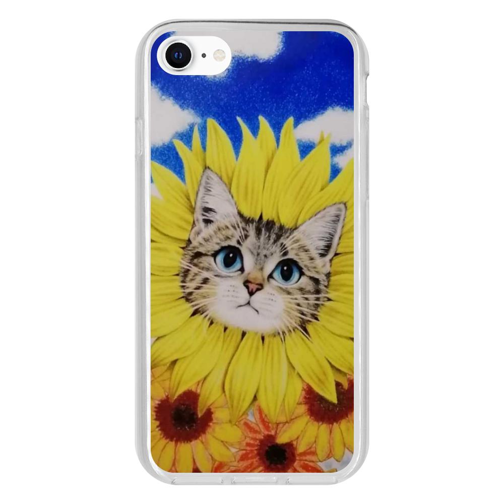 ひまわり猫 iPhone 8 抗菌ソフトケース