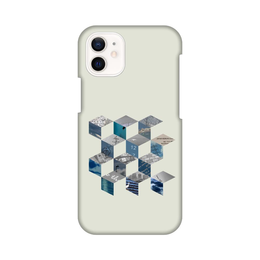 「キューブ コラージュ」スマホケース iPhone12 mini