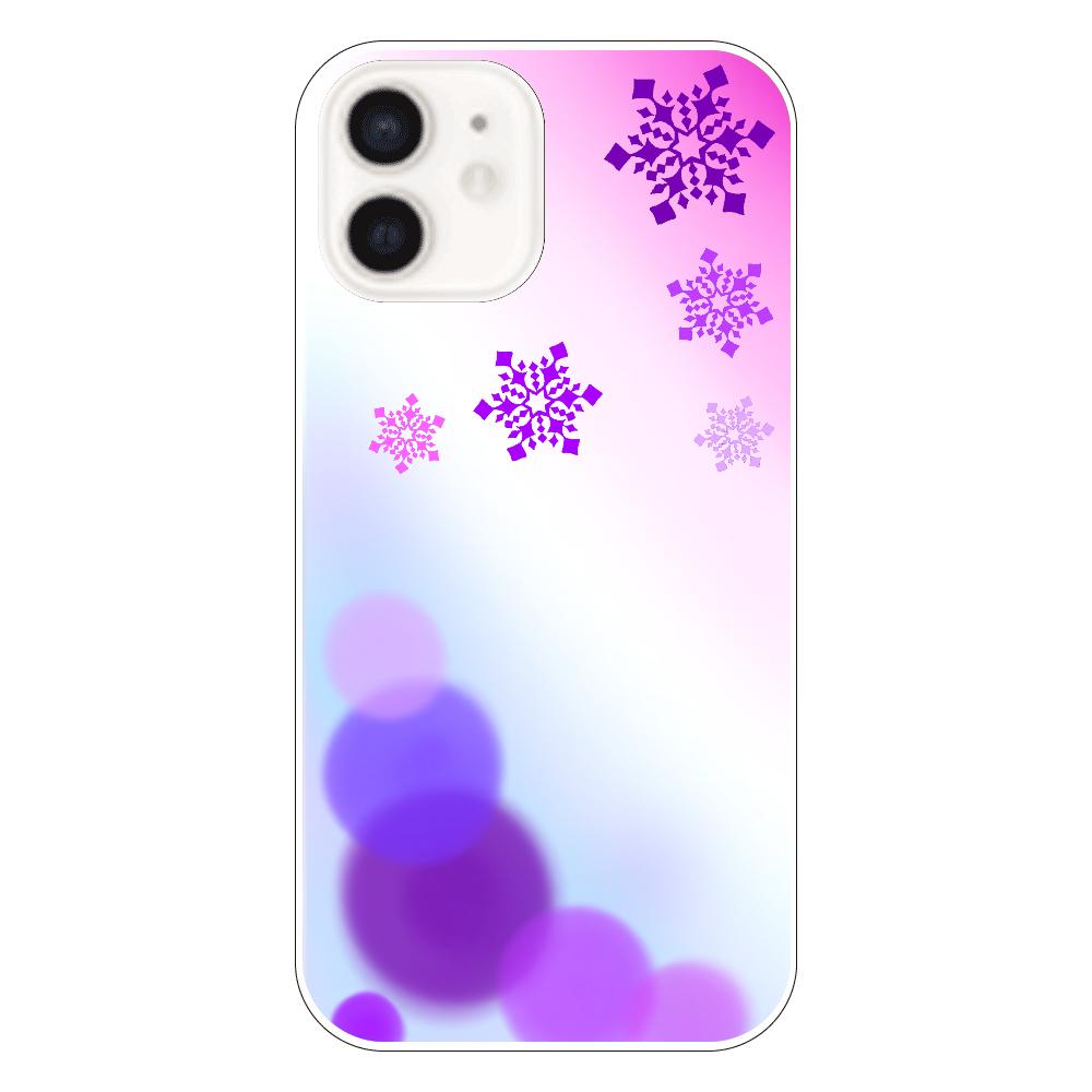 雪の結晶(紫ver.) iPhone12