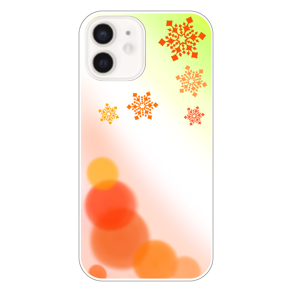 雪の結晶(オレンジver.) iPhone12
