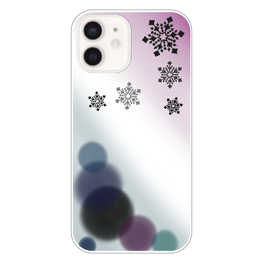 雪の結晶(黒ver.) iPhone12
