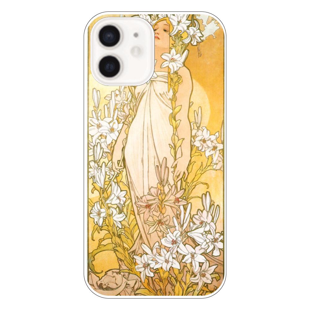 アルフォンス・ミュシャ 百合 iPhoneケース カバー iPhone12
