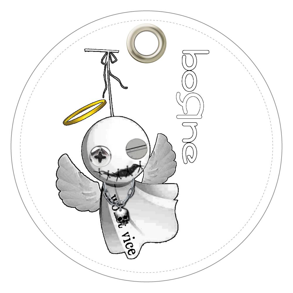 Teru Teru Angel レザーキーホルダー(丸型)