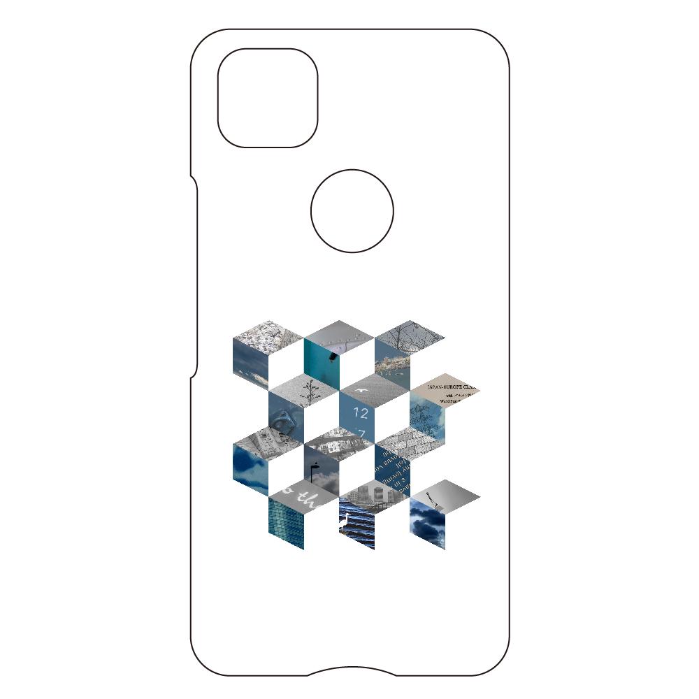 「キューブ コラージュ」スマホケース Google Pixel4a用ハードケース
