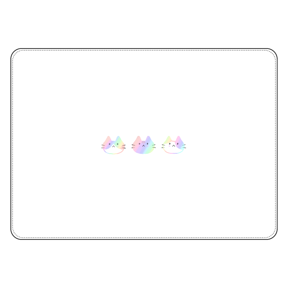 オーロラにゃんこ タブレットケース汎用Mサイズ