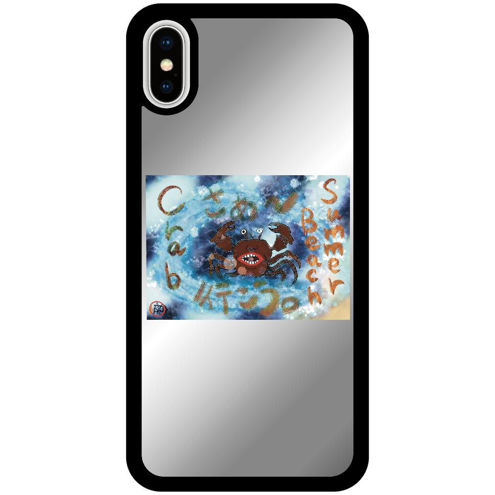 夏のビーチ「カニ」 ORILAB MARKET.Version.8 iPhoneX/Xsミラーパネルケース
