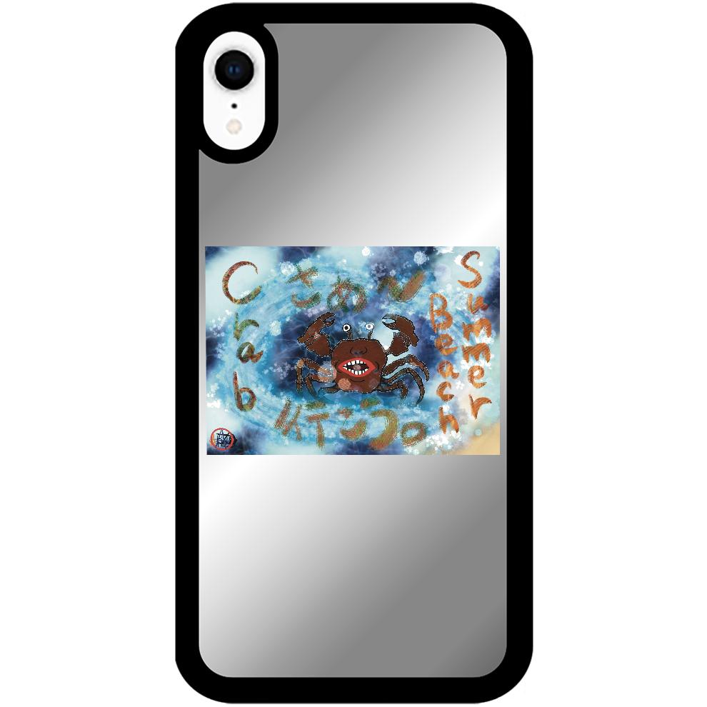 夏のビーチ「カニ」 ORILAB MARKET.Version.8 iPhoneXRミラーパネルケース