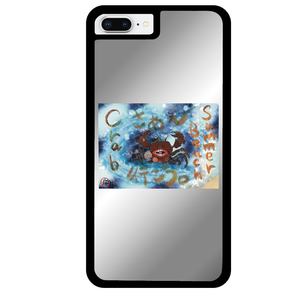 夏のビーチ「カニ」 ORILAB MARKET.Version.8 iPhone8plusミラーパネルケース