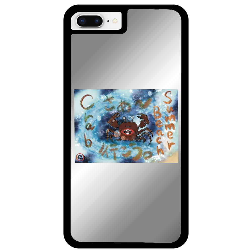 夏のビーチ「カニ」 ORILAB MARKET.Version.8 iPhone7plusミラーパネルケース
