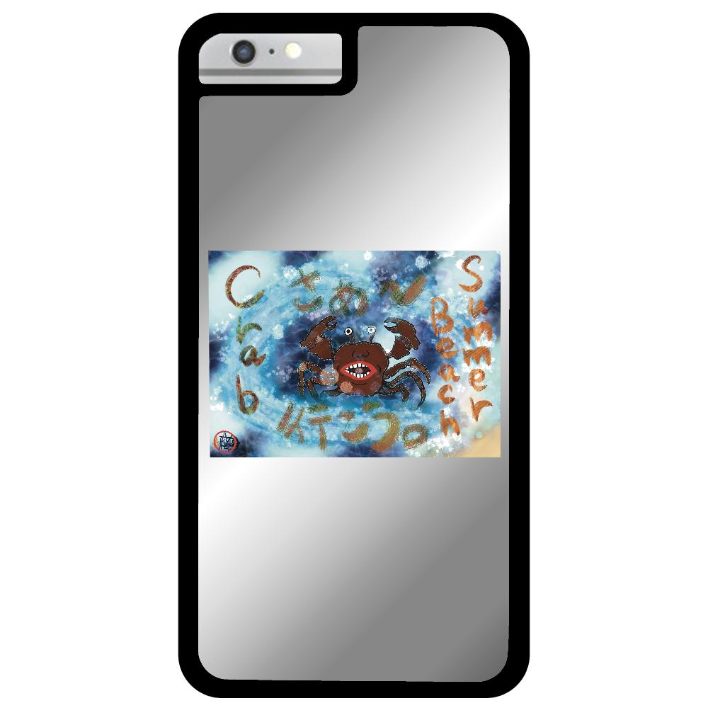 夏のビーチ「カニ」 ORILAB MARKET.Version.8 iPhone6plusミラーパネルケース