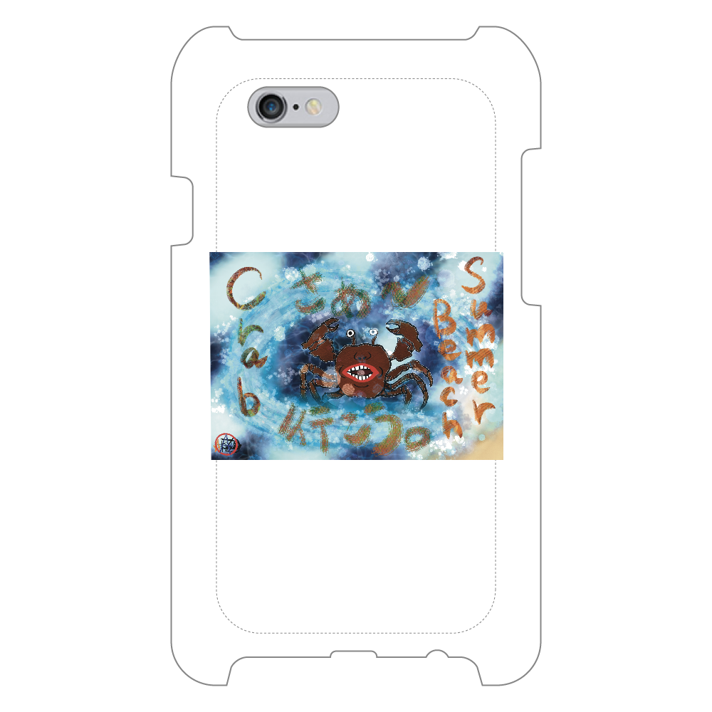 夏のビーチ「カニ」 ORILAB MARKET.Version.8 iPhone6/6s_ミラーケース