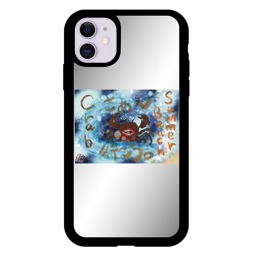 夏のビーチ「カニ」 ORILAB MARKET.Version.8 iPhone11 ミラーパネルケース
