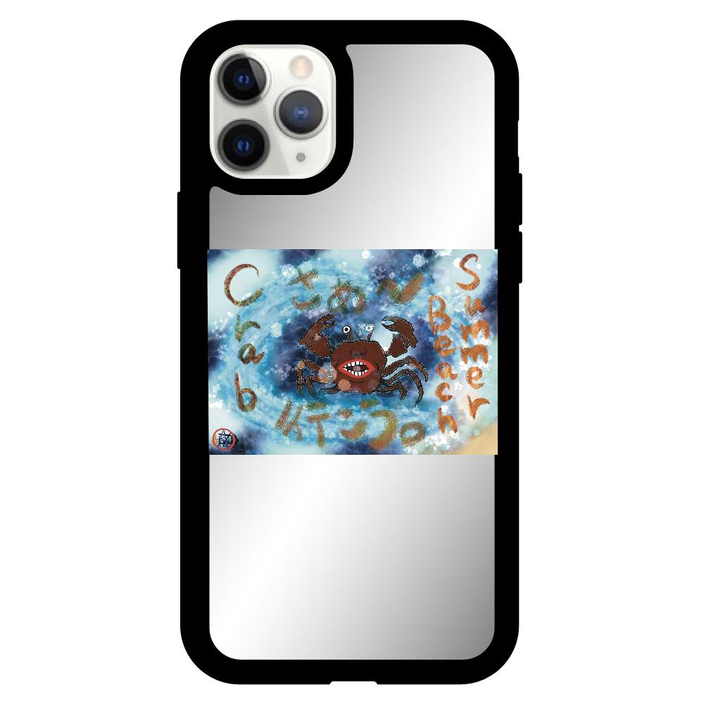 夏のビーチ「カニ」 ORILAB MARKET.Version.8 iPhone11pro ミラーパネルケース
