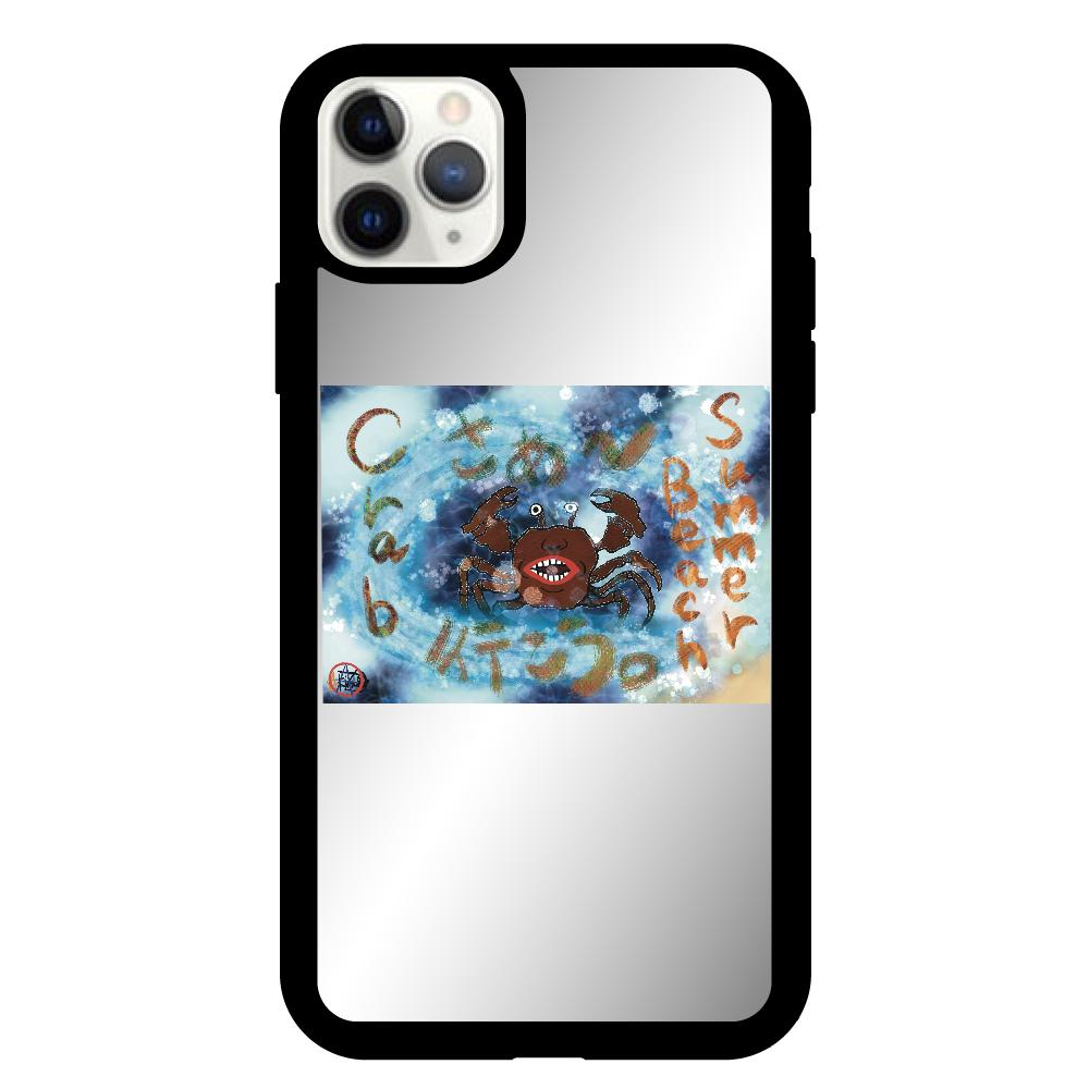 夏のビーチ「カニ」 ORILAB MARKET.Version.8 iPhone11proMax ミラーパネルケース