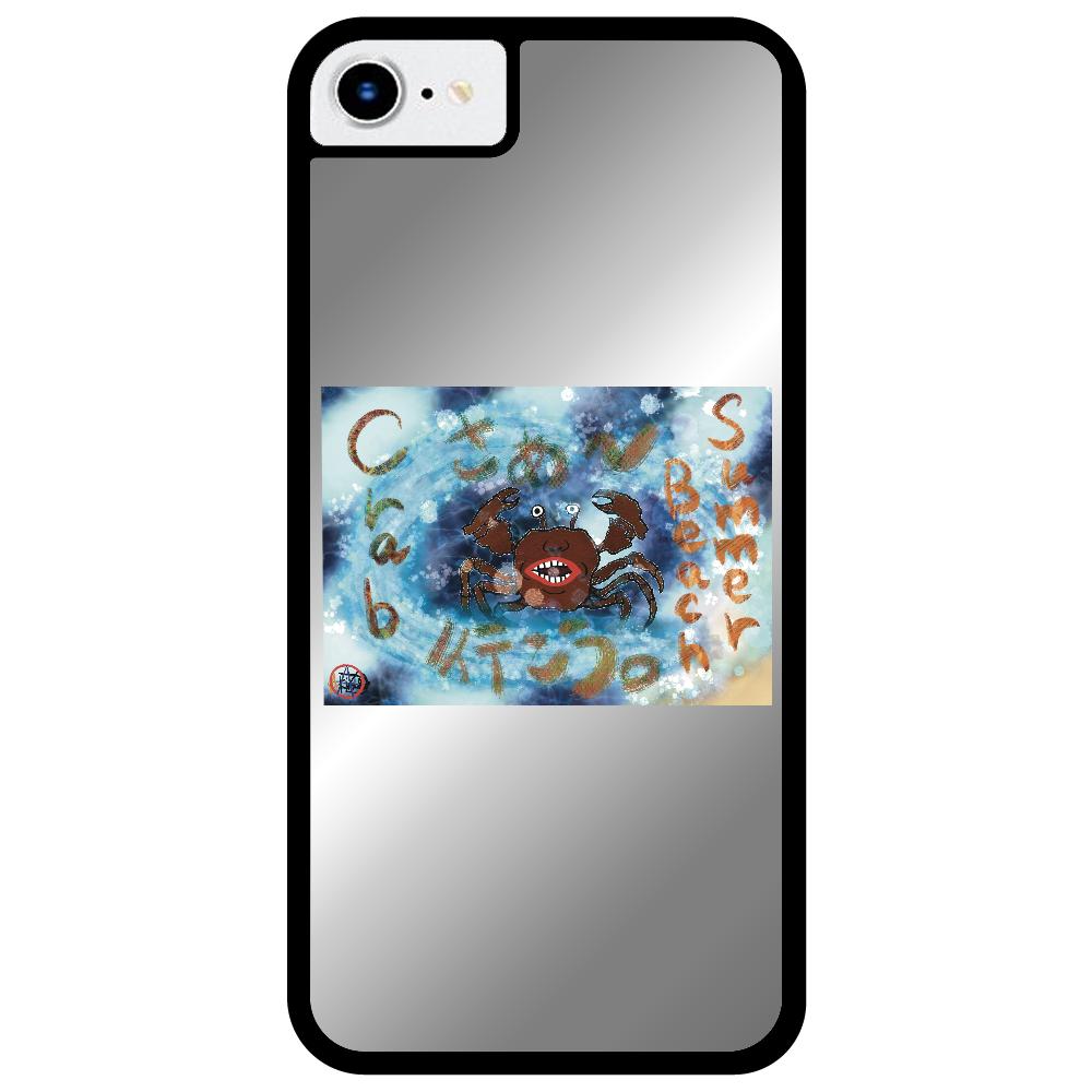 夏のビーチ「カニ」 ORILAB MARKET.Version.8 iPhone SE2ミラーパネルケース
