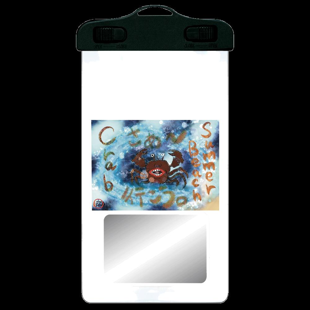 夏のビーチ「カニ」 ORILAB MARKET.Version.8 SPC06(防水スマホケース)