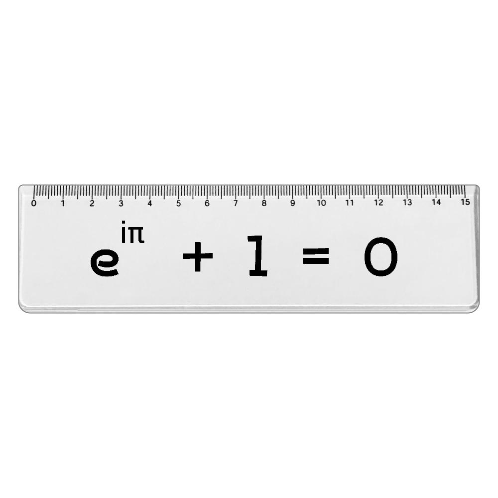 オイラーの等式-数学 定規 アクリルクリア定規