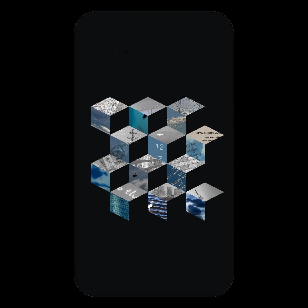 「キューブ コラージュ」残量表示付きモバイルバッテリー 残量表示付きモバイルバッテリー(4000mAh)
