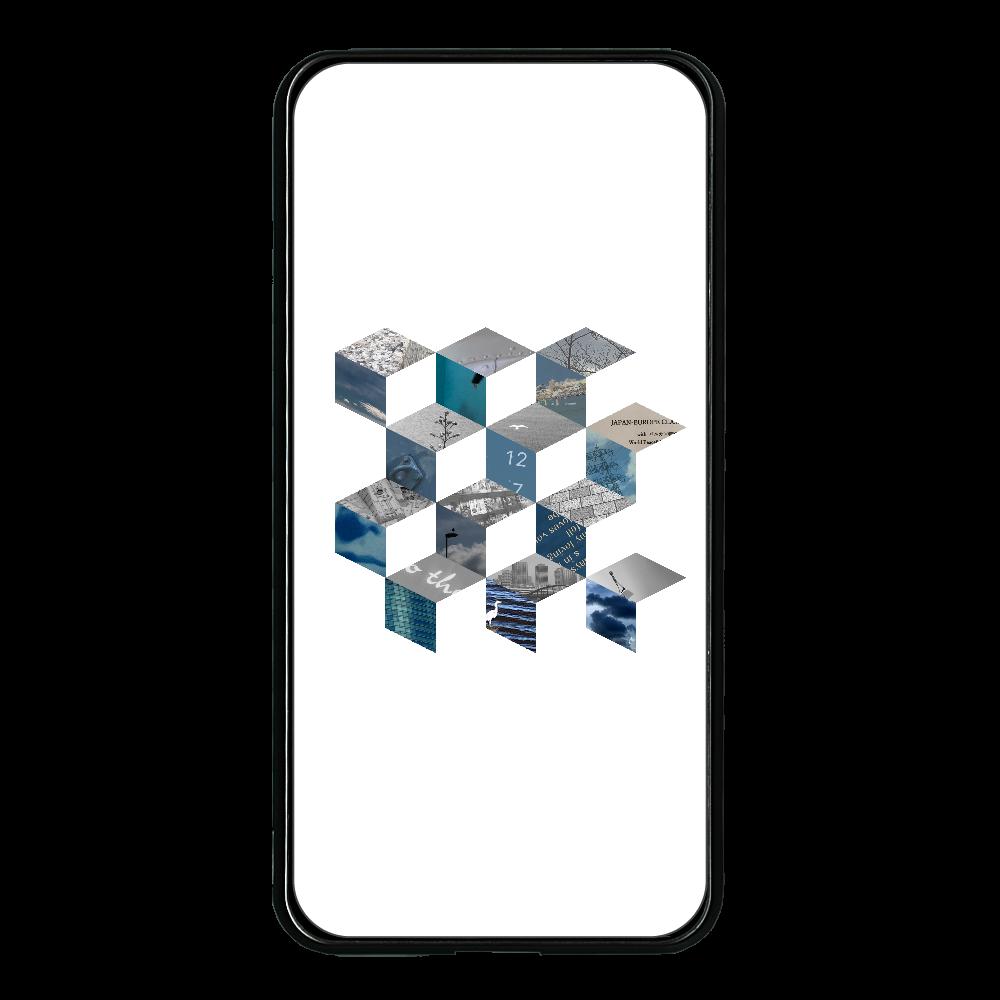 「キューブ コラージュ」大容量モバイルバッテリー 両面ガラス 大容量モバイルバッテリー 両面ガラス 8000mAH