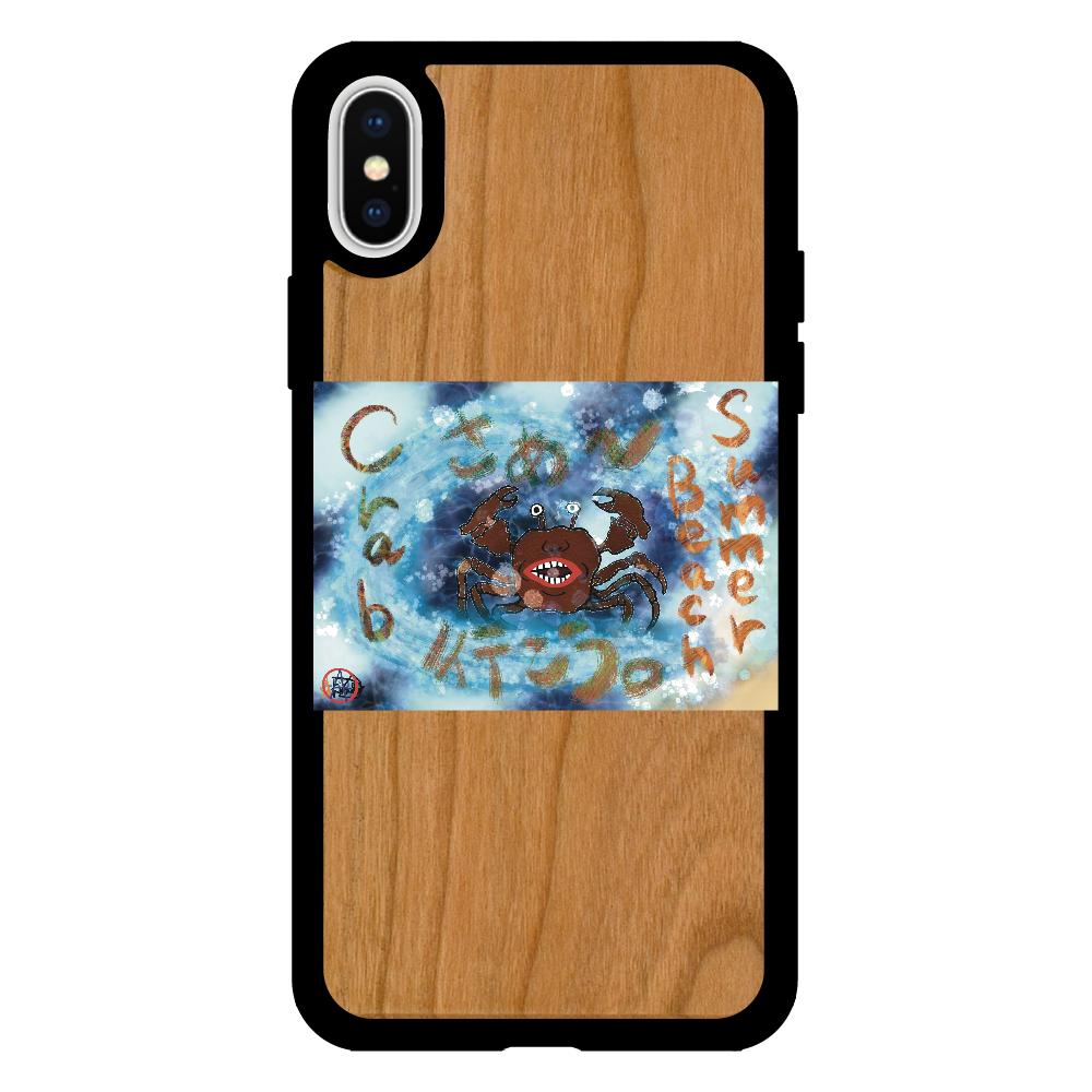 夏のビーチ「カニ」 ORILAB MARKET.Version.9 iPhoneX/XS ウッドケース