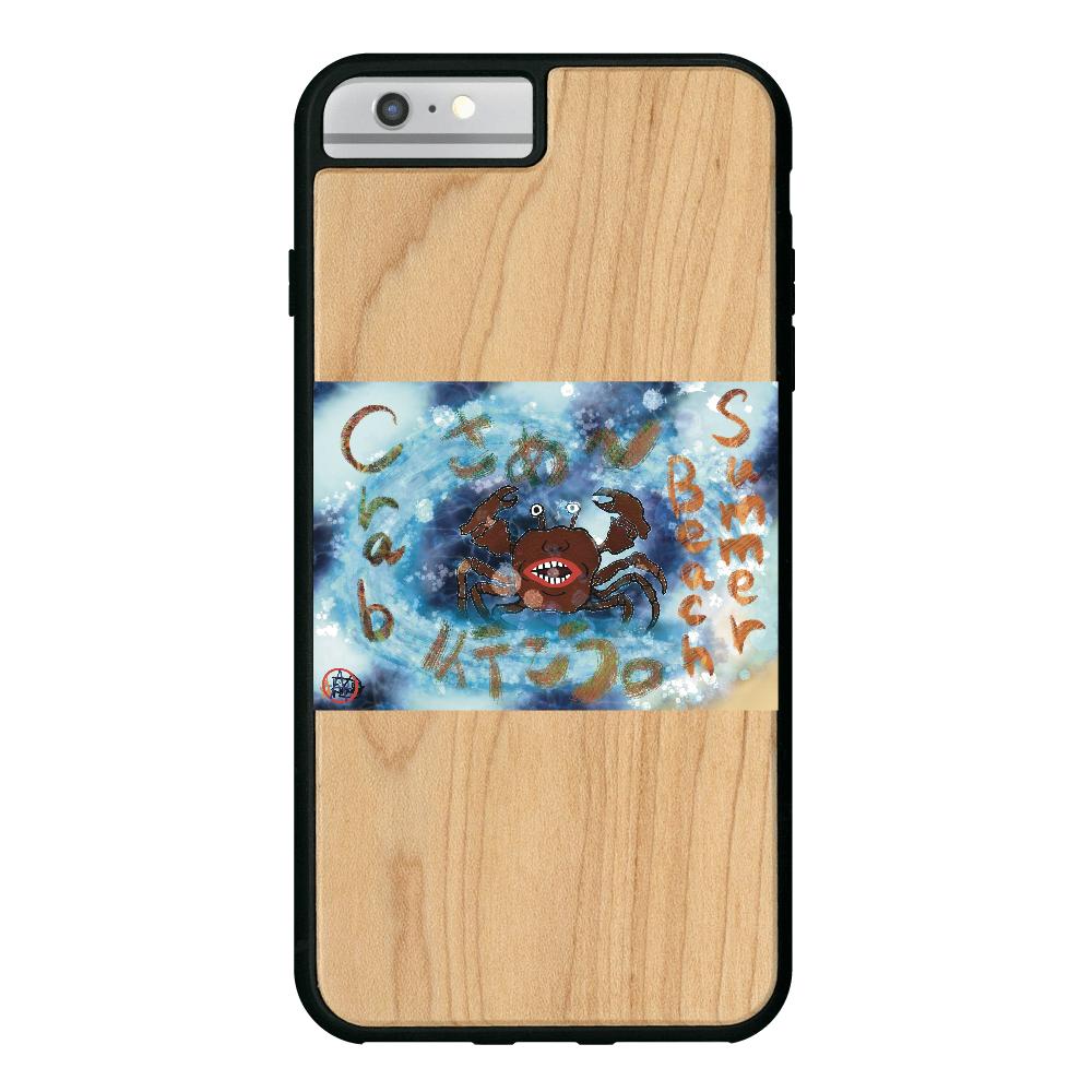夏のビーチ「カニ」 ORILAB MARKET.Version.9 iPhone6/6S Plus ウッドケース